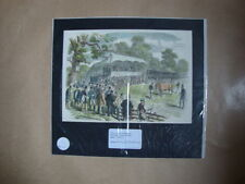 Genuine Hand Coloured Antique Print of Sale of Shorthorns Cattle. by Anon