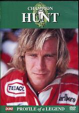 CHAMPION JAMES HUNT DVD PROFILE OF A LEGEND - FORMULA 1