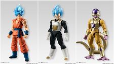 SHODO Dragon Ball Z SSGSS Goku,Vegeta & Golden Frieza Set Of 3 Action Figures