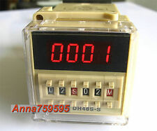 12V DC Programmable Double Time Delay Relay DH48S-S & Free Socket Base UL