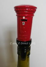 Wine Saver Bottle Stopper Handpainted Novelty Stoppers Postbox Mailbox Post Box