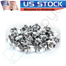 "20PC OE 1.18"" Mag Style Chrome Lug Nuts w/ Washer 12x1.5 For Toyota Lexus Wheels"