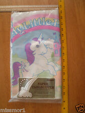 "My Little Pony 1984 vintage table cloth MIP 54x84"" wall paper Glory MIP sealed"