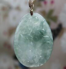 Certified Natural Untreated Beautiful Icy Jadeite JADE Carved Fishes Pendant