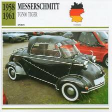 1958-1961 MESSERSCHMITT TG500 TIGER Sports Classic Car Photo/Info Maxi Card