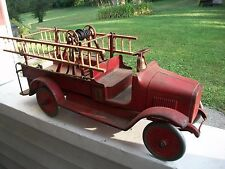 Vintage Buddy L No. 205 Hook And Ladder Fire Truck