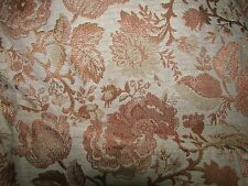 Vintage Retro MidCentury COPPER FLORAL Drapes Brocade Pinch Pleat 3 Panels