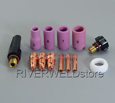 TIG Welding Stubby Collet Body & Collet KIT Fit WP-17 WP-18 WP-26 13PK