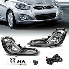 For 2011-2015 Hyundai Accent Front Bumper Fog Lights Replacement LH+RH Kit