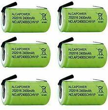 Set di 6 Batterie Ricaricabili Ni - MH SC 1,2V 2400mAh - T. a Saldare