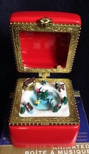 Animated Mr Christmas Music Box  plays JOLLY OLD ST. NICHOLAS 2011