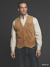 Men's Cripple Creek Boar Suede Snap Front  Vest - 4 Colors Available