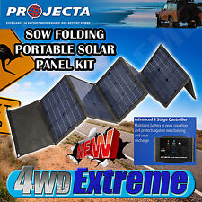 PROJECTA 80W PORTABLE FOLDING SOLAR PANEL KIT 4WD CAMPING SPM80K NEW 4X4 HUNTING