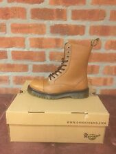 DR. MARTENS JUSTYNA TAN CAMBRIDGE (CBG)   LEATHER  BOOTS SIZE UK 8