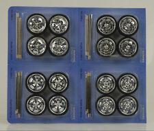 16 llantas tires neumáticos rims juego de ruedas 4 x Chrome tuning accesorios diorama 1:24/18