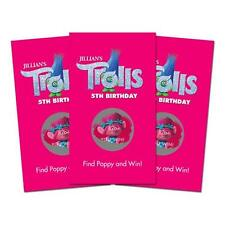 10 Trolls Movie Custom Personalized Birthday Party Favor Scratch Off Games