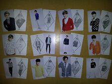 EXO K M plastic PHOTO CARD #12-1 - all of 12 Sheet - monster lucky exodium lotto
