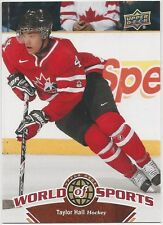 Taylor Hall 2010 Upper Deck World Of Sports Card # 191 Edmonton Oilers
