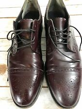 E.T. Wright Men's Wingtip Brown Brogue Leather 12 AA Made in USA