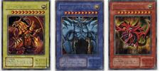 Secret rare Yu-gi-Oh Yugioh Egyptian God Cards G4-01,02,03  japan limited F/S