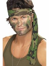 Army Headband Camouflage Fancy Dress Camo Bandana Accessory 35418