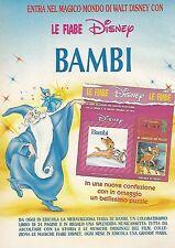 X0120 Bambi - Le Fiabe Disney - Pubblicità 1992 - Vintage Advertising