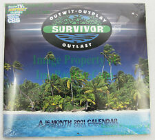 Survivor 2001 16-Month Calendar ☆ NITF Factory Sealed ☆ CBS TV Outwit ☆ OUTBUY!!