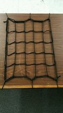CARGO BUNGEE NET 14 X 14 INCHES W/ 6 METAL HOOKS FOR MOTORCYCLES HARLEY & METRIC