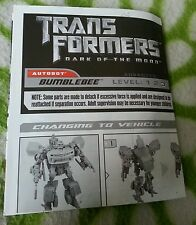 Transformers DOTM HUMAN ALLIANCE BUMBLEBEE INSTRUCTION BOOKLET FREE S/H