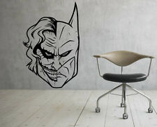 Joker and Batman Wall Vinyl Decals Super Hero Sticker DC Comics  Decor (15jbat)
