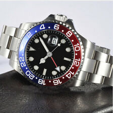 40mm Parnis GMT red blue Bezel Mechanical automatic mens watch P564