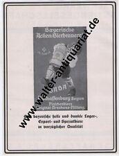 Bayerische Actien-Brauerei Aschaffenburg Große Werbeanzeige 1927 Reklame Bier