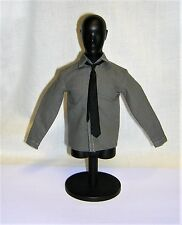 DID 1/6th Scale WW2 German Officer's Grey Shirt & Black Tie - Otto