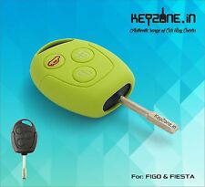Silicone Key Cover for Ford Figo / Fiesta / Fusion remote key (Apple Green)