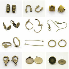 Bronze Jewellery Making Components Starter Kit Tools Cords Assorted DIY Findings