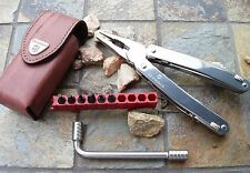 Victorinox SPIRIT PLUS Multi-tool Original Swiss Army Knife Leather Sheath 53802