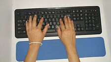 Blue PC Keyboard Wrist Support Pad Cushion for Comfort Hands USA Shipping