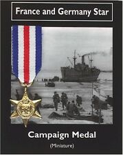 REPRODUCTION France and Germany Star Miniature British War Medal 20mm [CMFGS]