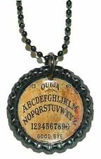 FUN ROUND OUIJA BOARD NECKLACE PENDANT (CAP047a)