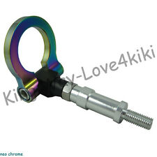 NEO CHROME Racing Rear SCREW IN Tow Towing Hook FOR 00-09 HONDA S2000 AP1 AP2