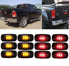 Smoked Lens 6 Amber&6 Red LED Side Fender Marker Lights FOR 03-09 DODGE RAM 3500
