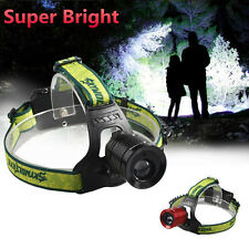 8000Lumens Rechargeable CREE LED Headlamp Headlight  Zoomable Focus Head Lamp