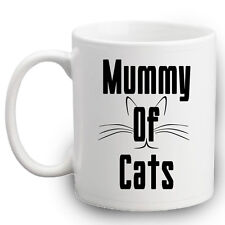 Mummy Of Cats Mug | Funny Crazy Cat Lady Mugs | Kitty | Kitten | Meow | Cat Gift