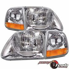 FORD F150/EXPEDITION LE HEADLIGHTS HEADLAMPS 4P SET 97-03 LIGHTNING STYLE