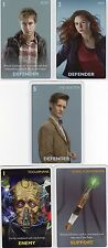 Doctor Who the Card Game 2012 c7e - 5 Art Cards; 11th Doctor, Amy, Toclaphane