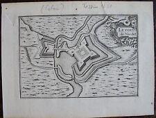 CARTE LE FORT DE NIEULET  (CALAIS) . Par TASSIN. Carte originale de 1633.  Dimen