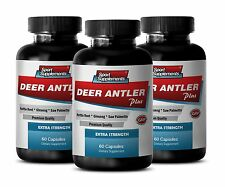 Ginseng Extract - Deer Antler Plus 550mg - Ageless Men Performance Pills 3B