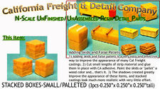 STACKED BOXES-PALLETED/Small(3pcs) N/1:160-Scale Craftsman CAL FREIGHT