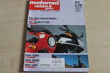 164778) Gilera Saturno Bialbero im TEST - Motorrad Reisen Sport 10/1989
