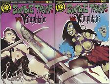 Zombie Tramp VS Vampblade #1 Risque Variant Double Cover Set Action Lab
